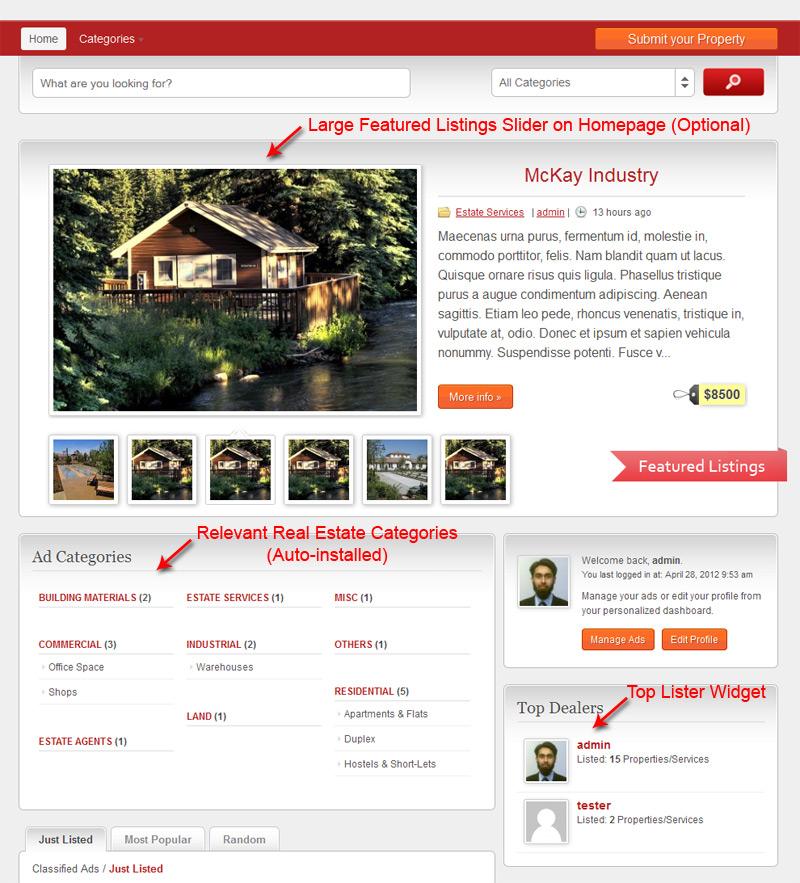 ClassiEstate Homepage