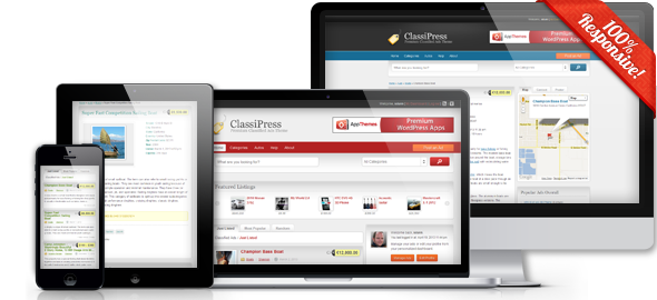 ClassiPress 3.3 is Responsive, So are Themebound Products!