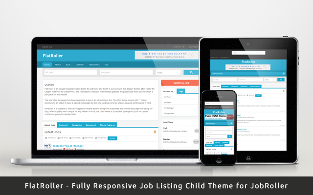Responsive Child Theme for Job Listing – FlatRoller
